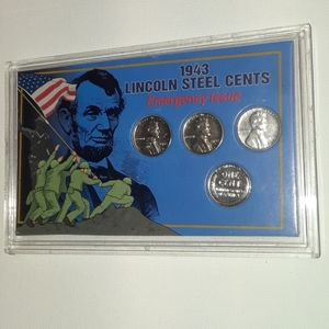 1943 Lincoln steel cents